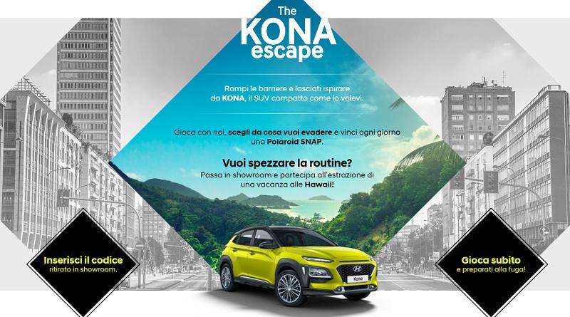Concorso a premi Hyundai, The Kona Escape