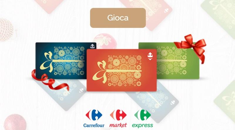 Vinci subito gift card Carrefour da 100 euro
