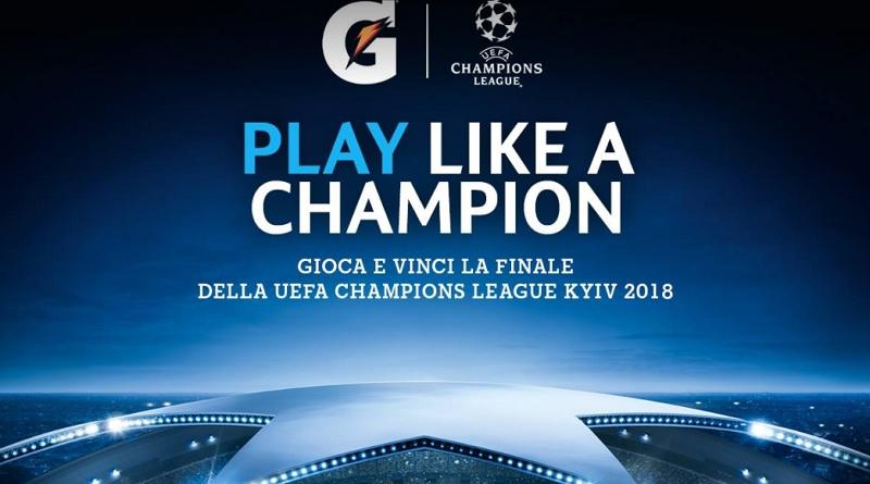 Concorso Gatorade, vinci biglietti per la finale di Champions League