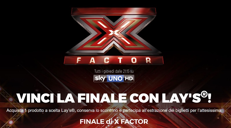 Vinci la finale di X Factor 2017 con Lays