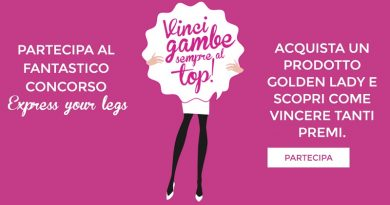 Concorso a premi Golden Lady Express Your Legs