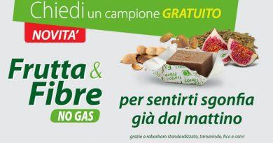 Campione omaggio integratore frutta e fibre no gas Ortis