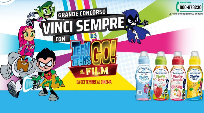 Concorso San Benedetto, vinci con Teen Titans GO!