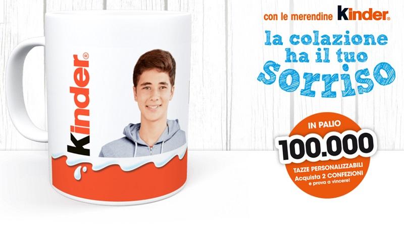 Concorso Kinder, vinci 100.000 fototazze personalizzabili