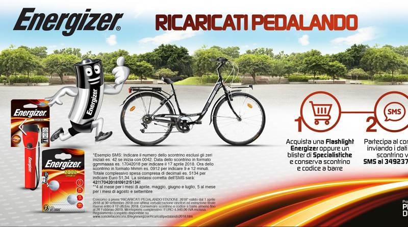 Concorso a premi Energizer, ricaricati pedalando