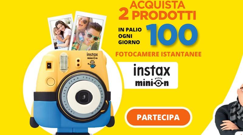 Concorso Ferrero, vinci fotocamera Instax Minions