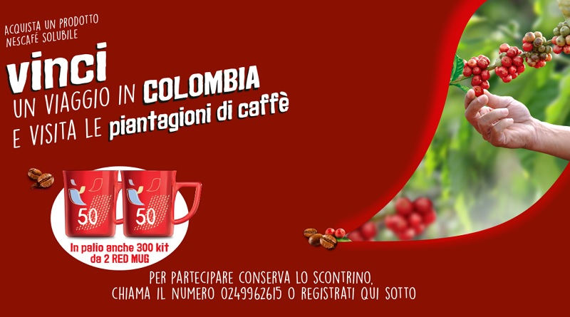Concorso Nescafe vinci viaggio in Colombia