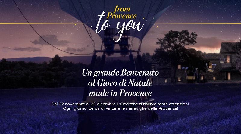 Gioco di Natale Occitane en Provence, vinci fantastici premi