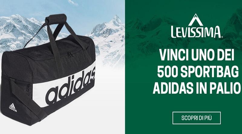 Concorso Levissima, vinci sportbag Adidas