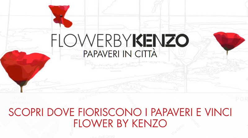 Concorso Flower by Kenzo, papaveri in città