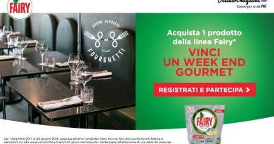 Concorso Fairy, vinci weekend gourmet