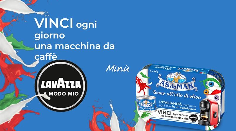 Vinci macchina da caffè Lavazza con Asdomar