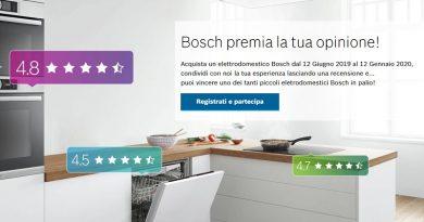 Concorso a premi Bosch, condividi la tua esperienza e vinci
