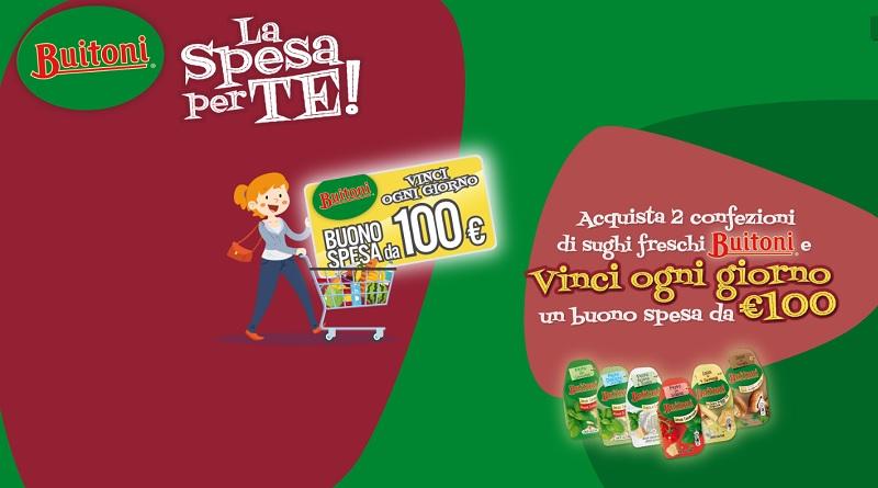 Concorso Buitoni, vinci ogni giorno buono spesa da 100 euro