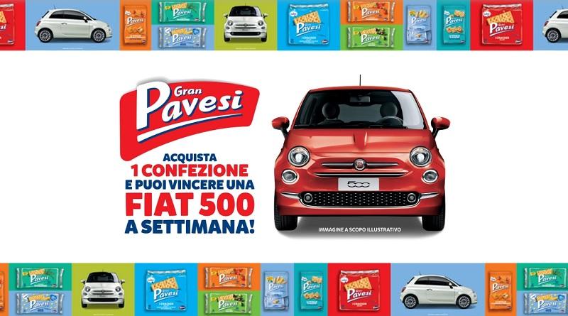 Acquista Gran Pavesi e vinci una Fiat 500 a settimana