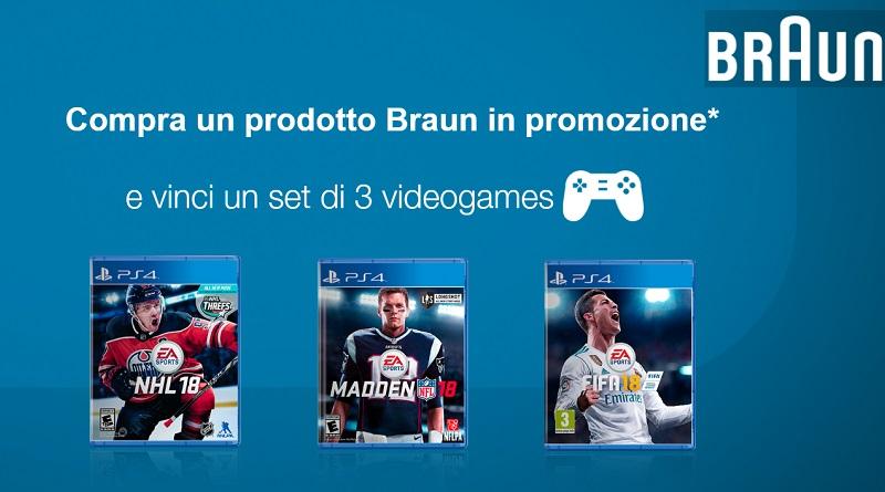 Compra un prodotto Braun e vinci 3 videogiochi