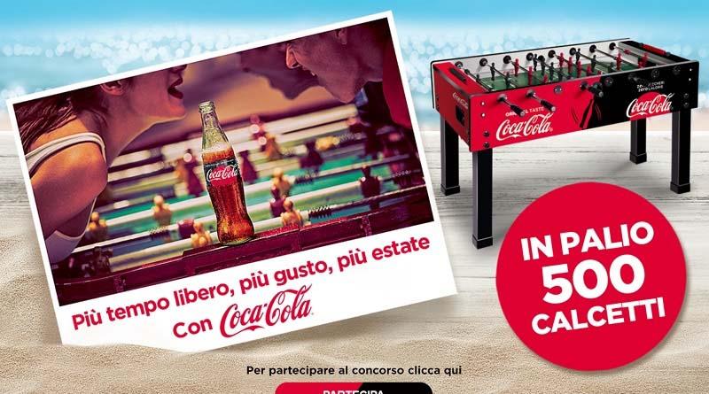 Concorso Coca-Cola vinci un calcetto