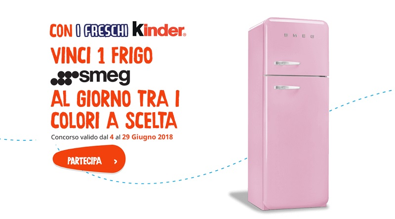 Vinci un frigo Smeg al giorno con i Freschi Kinder