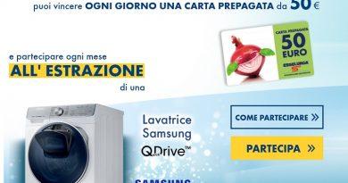 Concorso Henkel e Esselunga, fai girare la tua creatività e vinci lavatrice Samsung