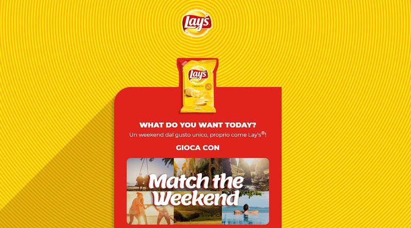 Concorso Lay's Match the weekend