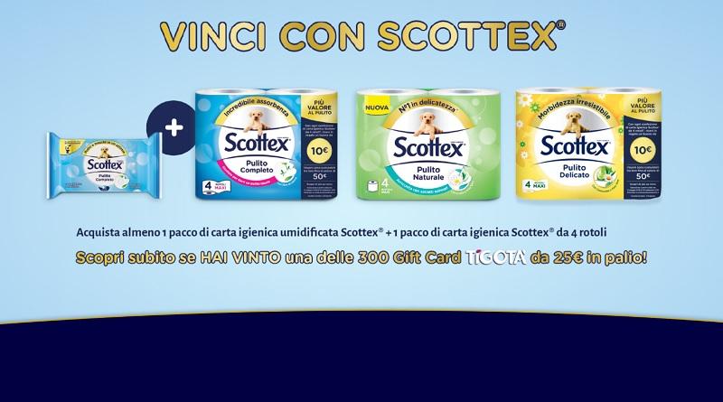 Vinci carte regalo Tigotà con Scottex