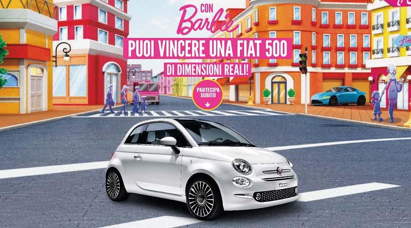 Vinci una Fiat 500 con Barbie