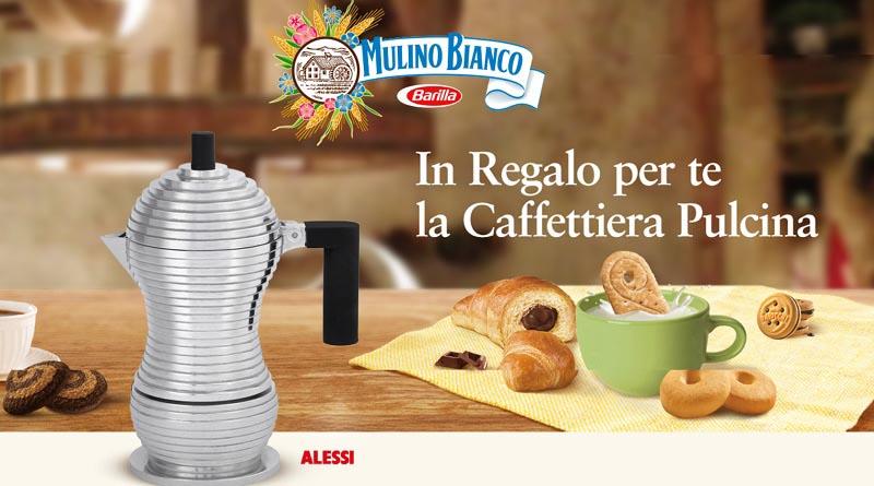 Concorso Mulino Bianco, acquista e vinci la caffettiera Pulcina