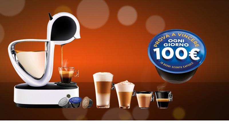 Concorso Nescafè, vinci ogni giorno 100 euro di capsule