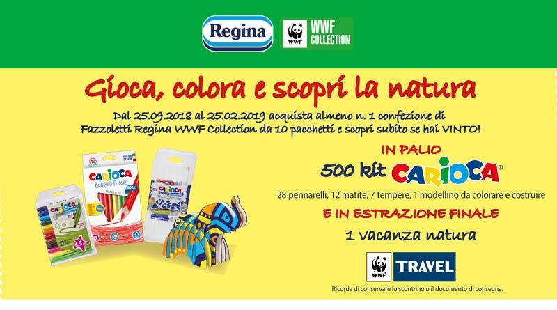 Concorso Regina: gioca, colora e scopri la natura