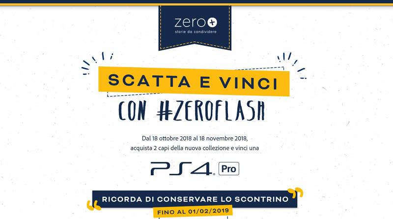 Concorso Scatta e vinci con Zeroflash