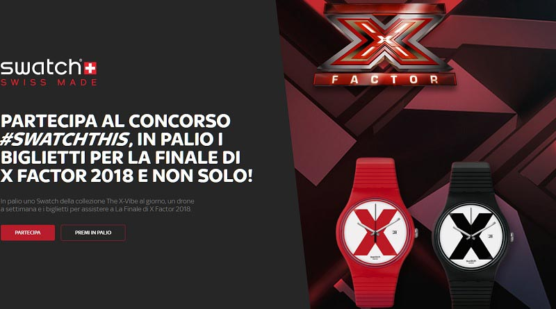 Concorso a premi X Factor Swatch This