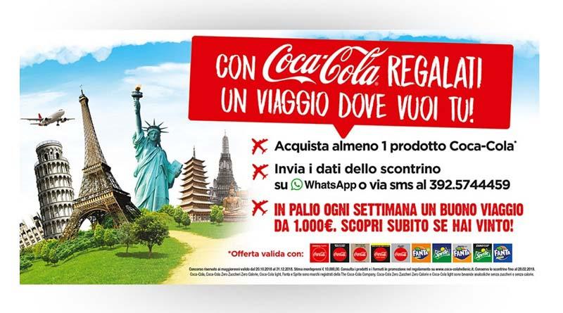 Concorso a premi Viaggia con Coca Cola