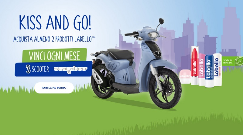 Concorso a premi Labello kiss and go, vinci scooter Scarabeo