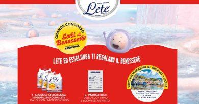 Concorso a premi Acqua Lete, sorsi di benessere