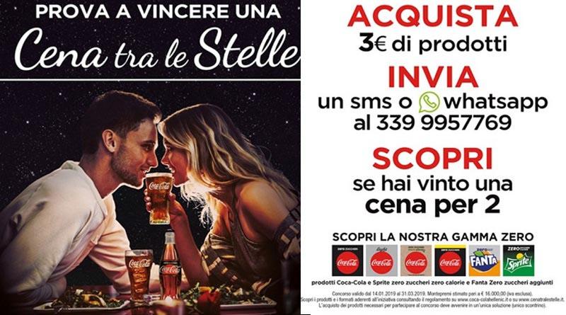 Concorso Coca Cola, vinci cena tra le stelle
