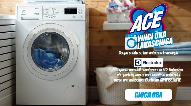 Concorso ACE, vinci una lavasciuga