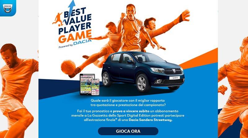Concorso La Gazzetta dello Sport best value player game