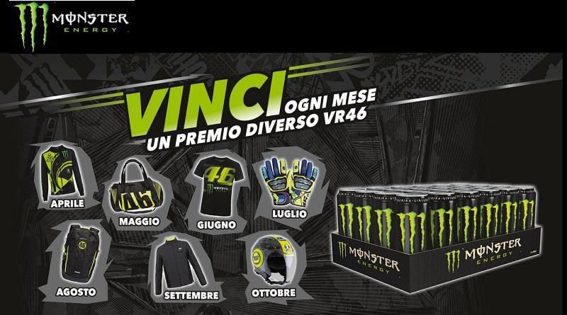 Concorso Monster, vinci premi VR46 ogni mese