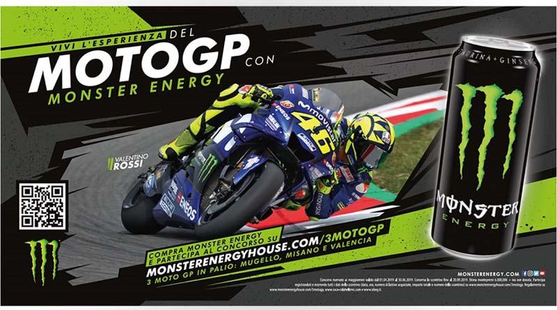 Concorso a premi vai al Moto GP con Monster