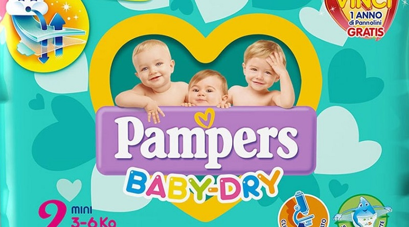 Concorso a premi Pampers, vinci 100 family set Baby Star
