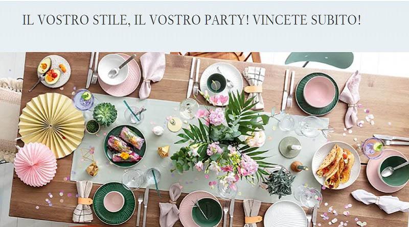 Concorso a premi Villeroy e Boch, il vostro stile il vostro party