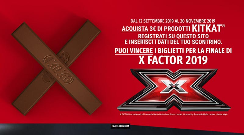Concorso a premi Kitkat X-Factor
