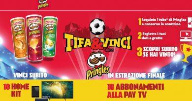 Compra Pringles all'Esselunga e vinci Smart TV Sony e abbonamenti alla Pay TV