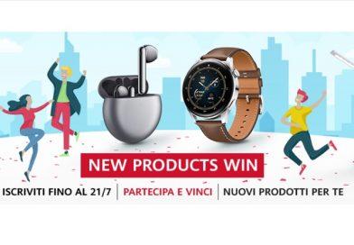 Concorso a premi Huawei New products win