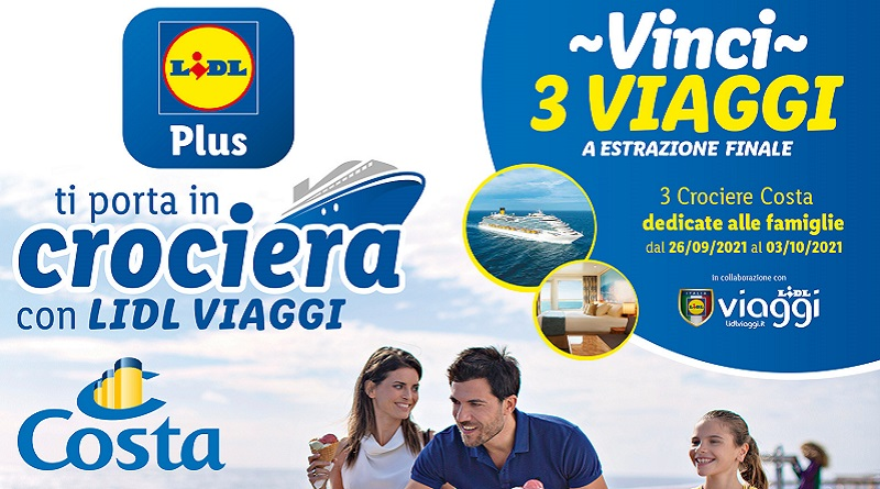 Concorso Lidl Plus, partecipa e vinci crociere Costa Firenze