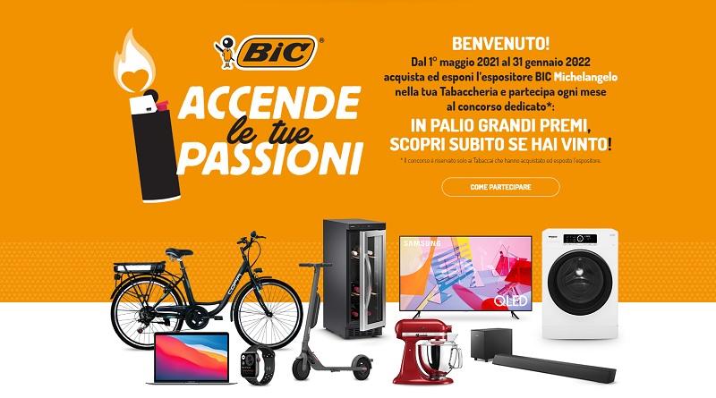 Concorso a premi Bic accende le tue passioni, vinci TV Samsung, bici elettriche e molto altro